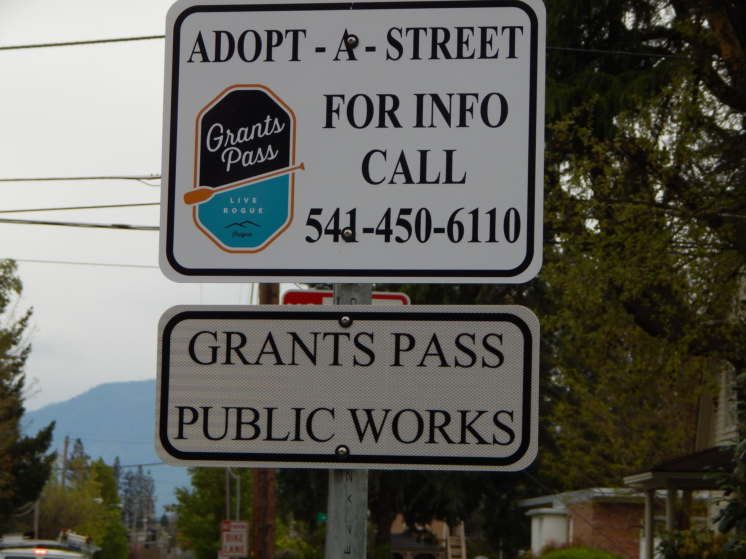 Adopt A Stree Street Sign with Public Works as Sponsor