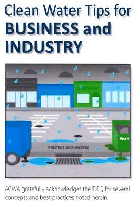 Business brochure for Stormwater tips