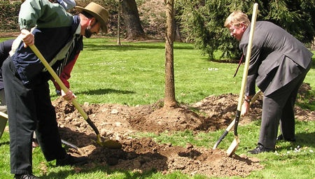 Planting a Tree - Arbor Day 2008
