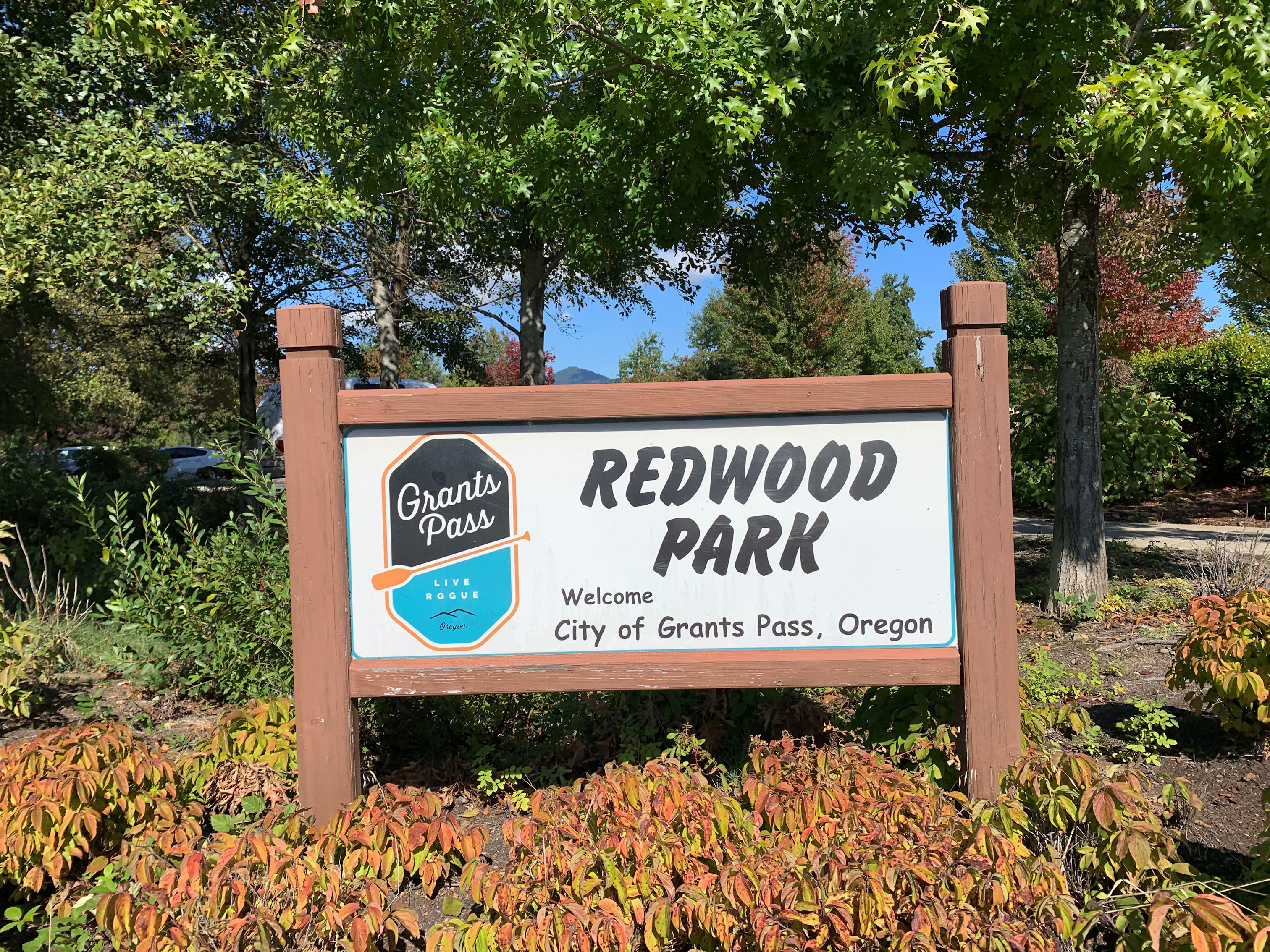 Redwood Park sign