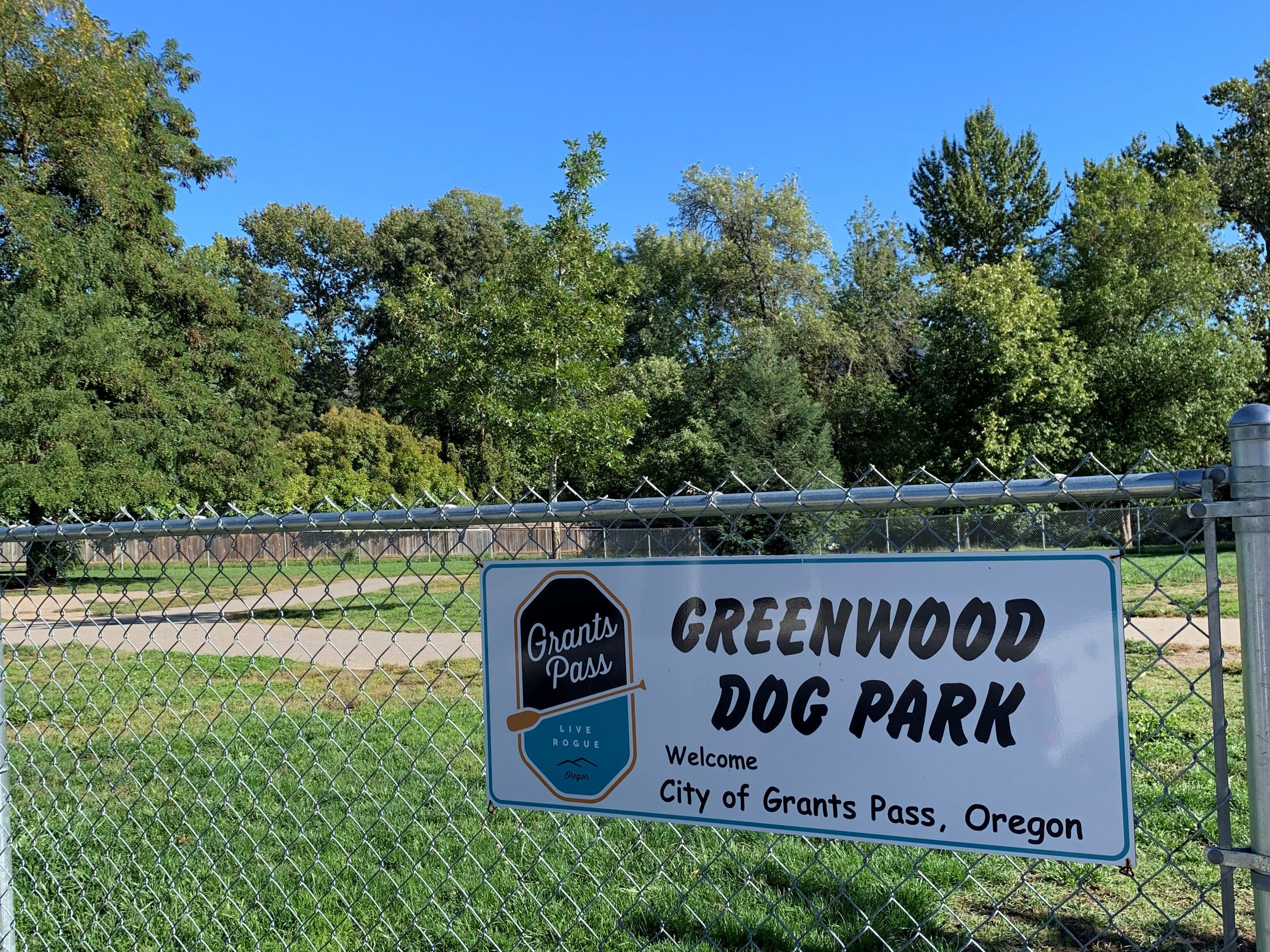 Greenwood Dog Park Sign