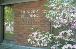 Municipal Building - Spring flowers