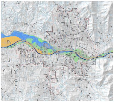 Waterways and Potential Flood Areas Map