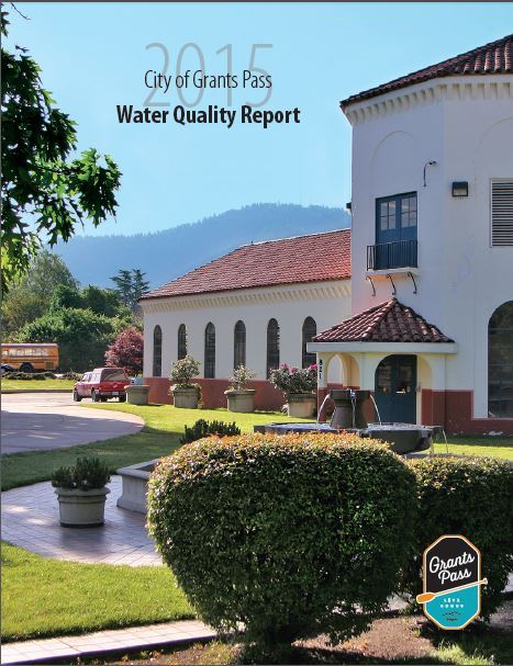 Front cover of the 2015 Water Quality Report