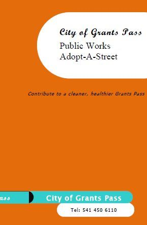 Adopt-a-street brochure cover