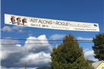 7th Street Banner advertising Art Along the Rogue